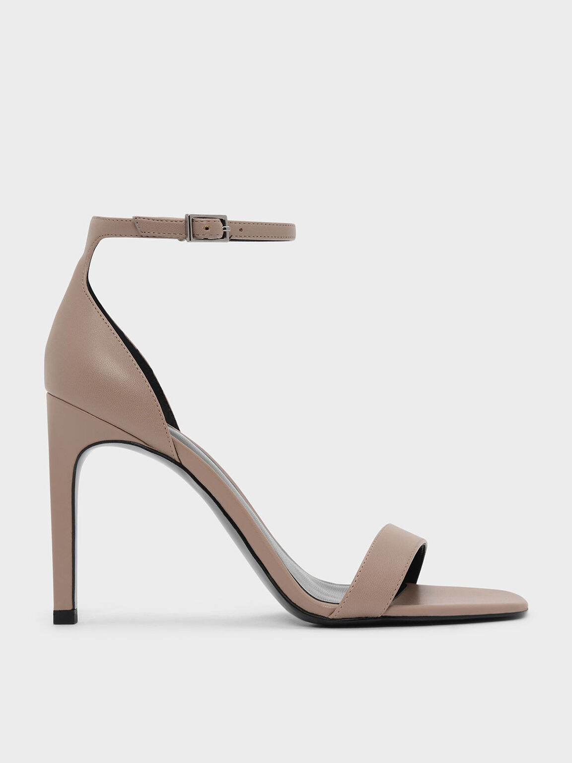 Classic Heeled Sandals, Nude, hi-res