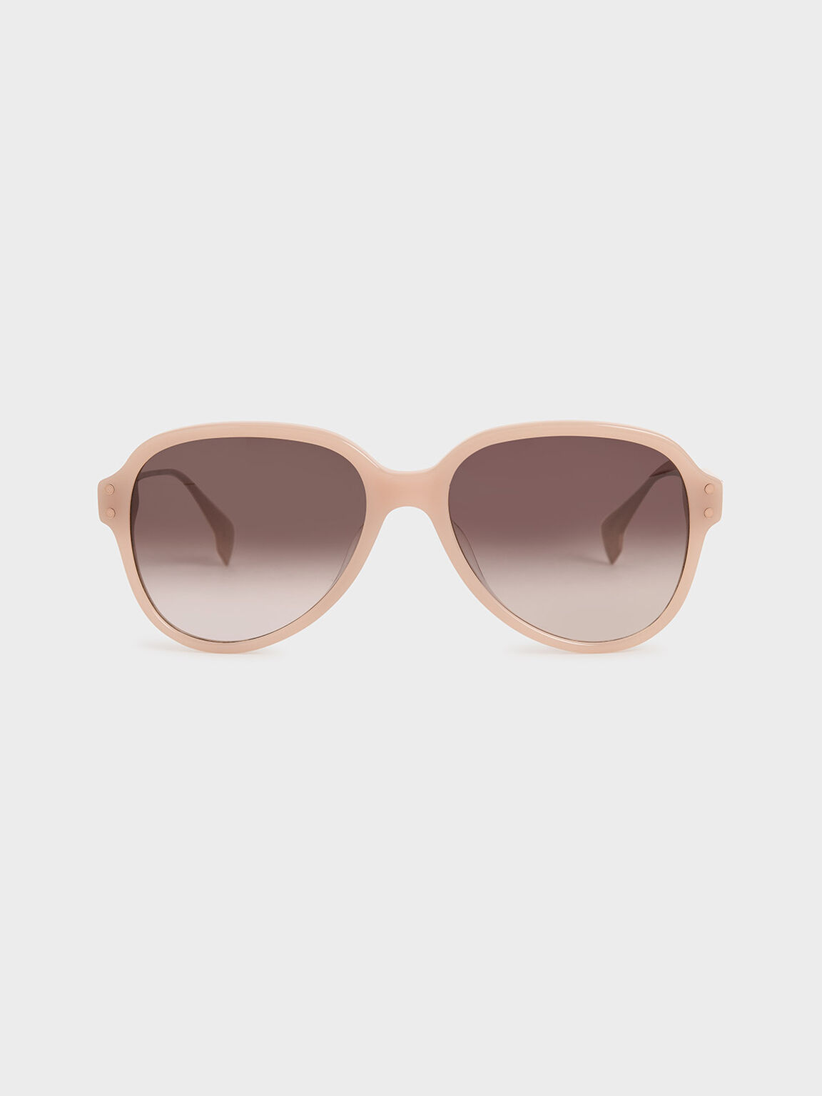 Acetate Aviator Sunglasses, Pink, hi-res