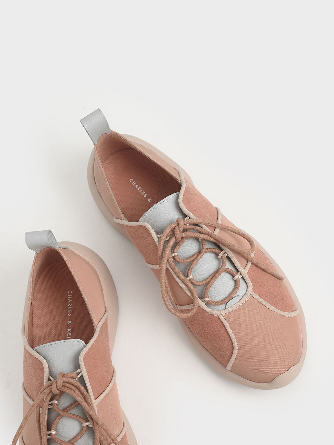 綁帶休閒鞋, 膚色, hi-res