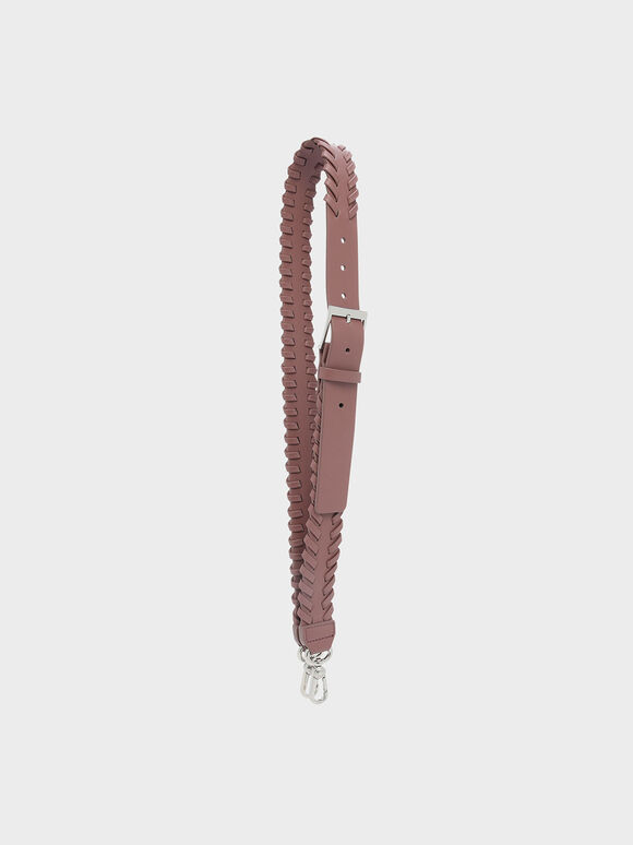 Weave Detail Bag Strap, Mauve, hi-res
