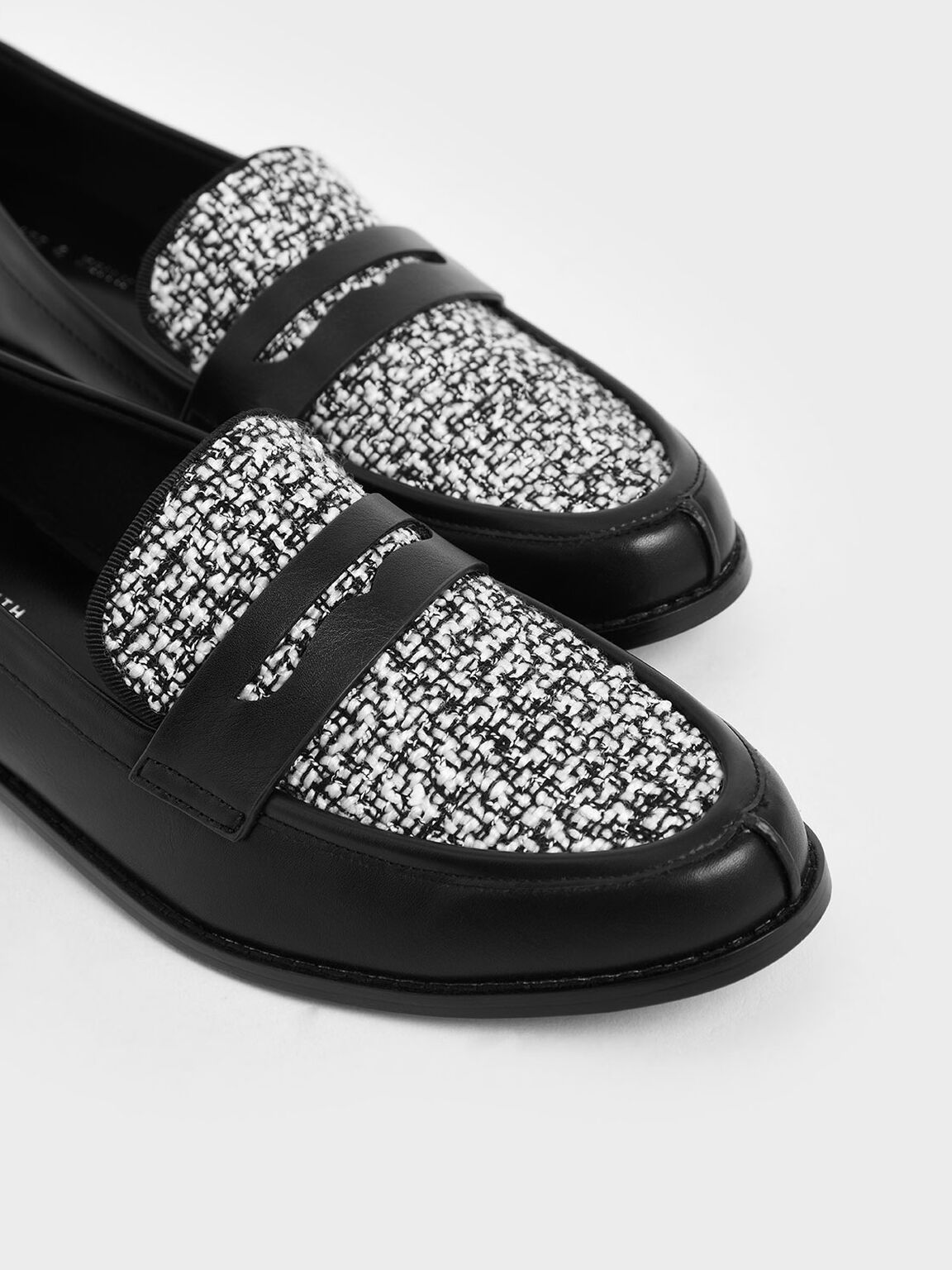 Classic Tweed Penny Loafers, Multi, hi-res