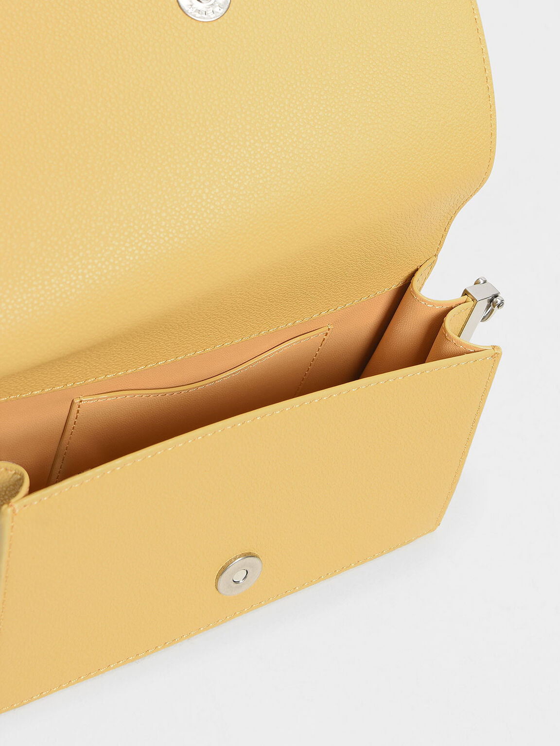 Charm Detail Crossbody Bag, Yellow, hi-res