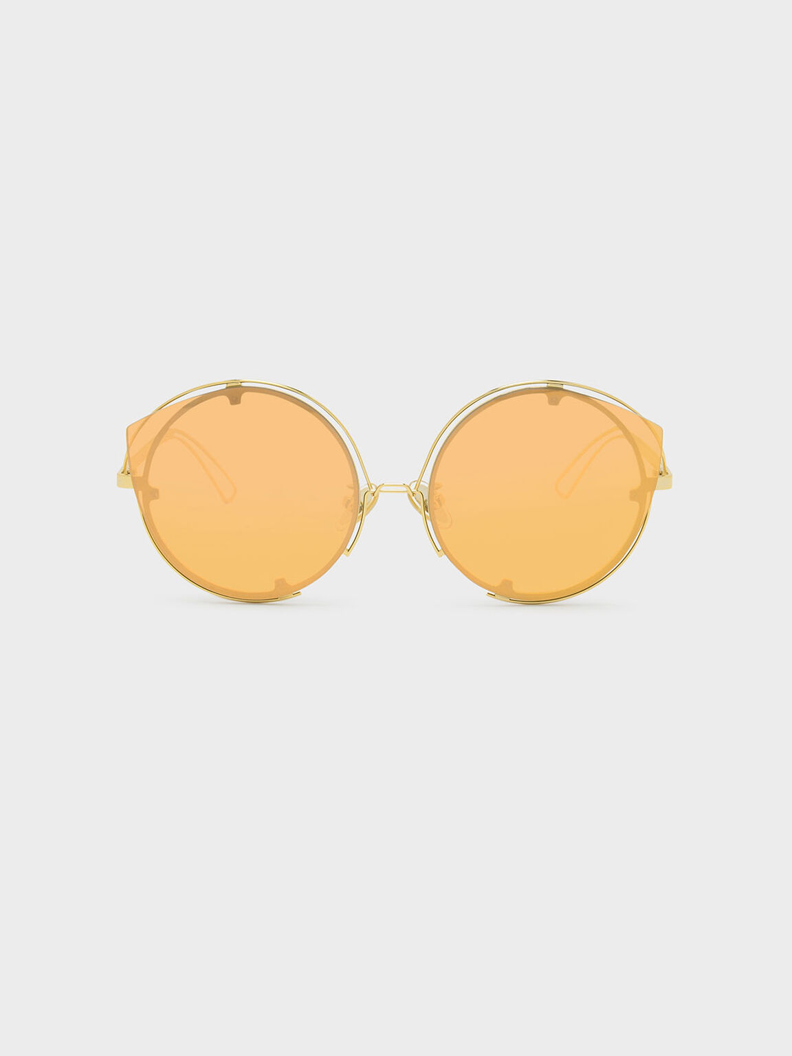 Wire Frame Sunglasses, Gold, hi-res