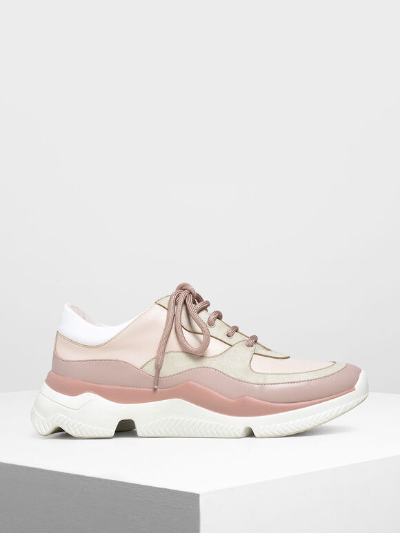 Chunky Sneakers, Light Pink, hi-res