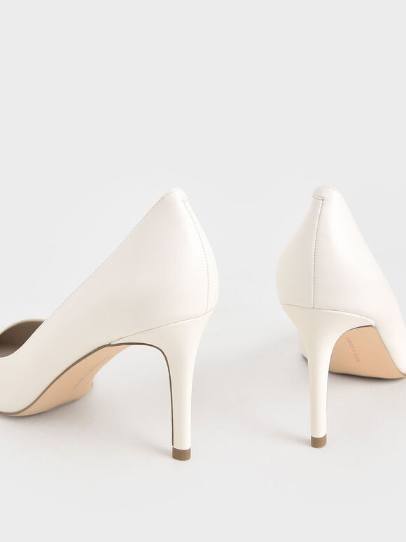Classic Stiletto Heel Pumps, Cream, hi-res