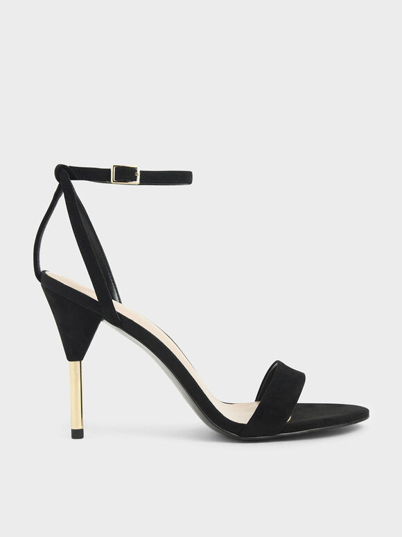 Textured Stiletto Heels, Black, hi-res