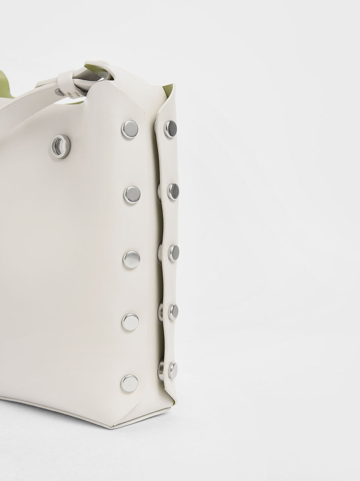 Mini Reversible Studded Crossbody Bag, Cream, hi-res