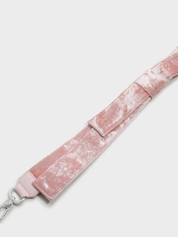 Velvet Knot Bag Strap, Pink