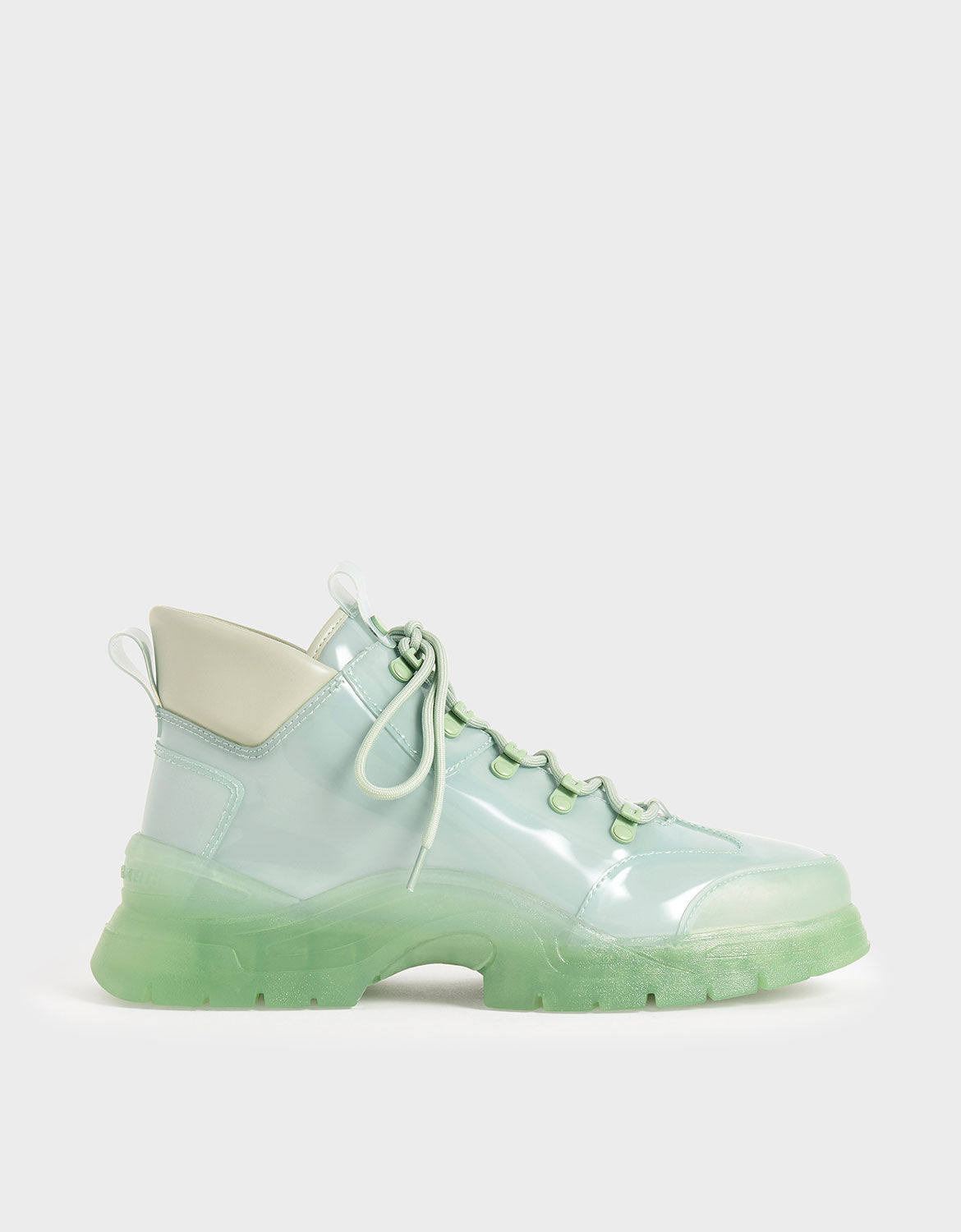 green high top shoes