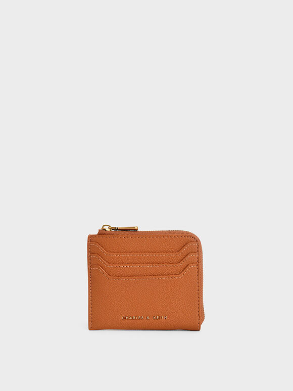 Multi-Slot Mini Pouch, Cognac, hi-res