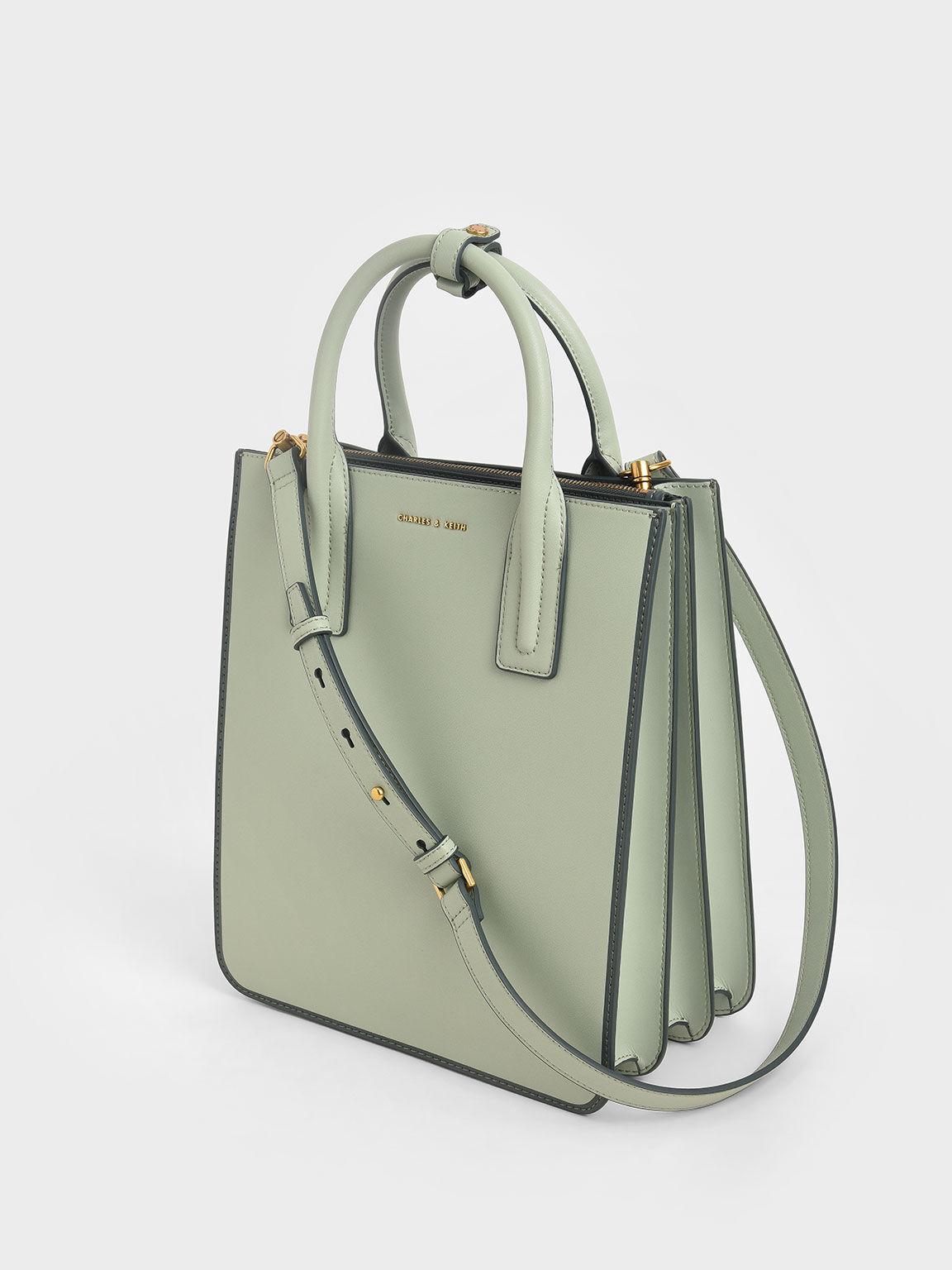 Double Handle Tote Bag, Mint Green, hi-res