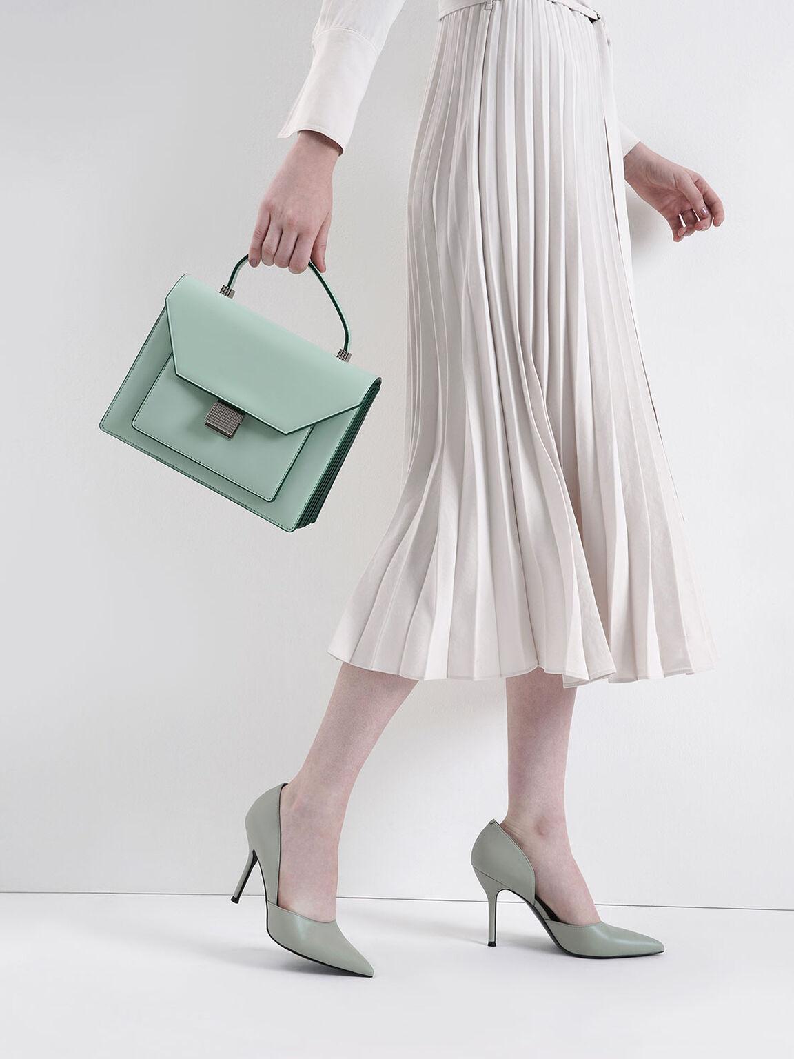 Top Handle Bag, Mint Green, hi-res