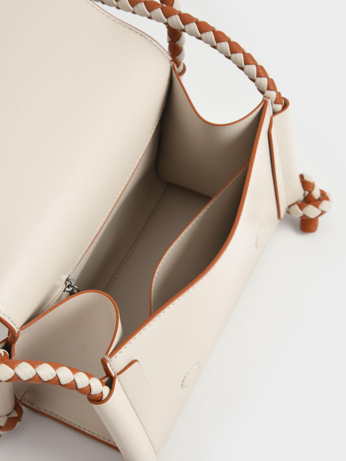 Embellished Strap Crossbody Bag, Cream, hi-res