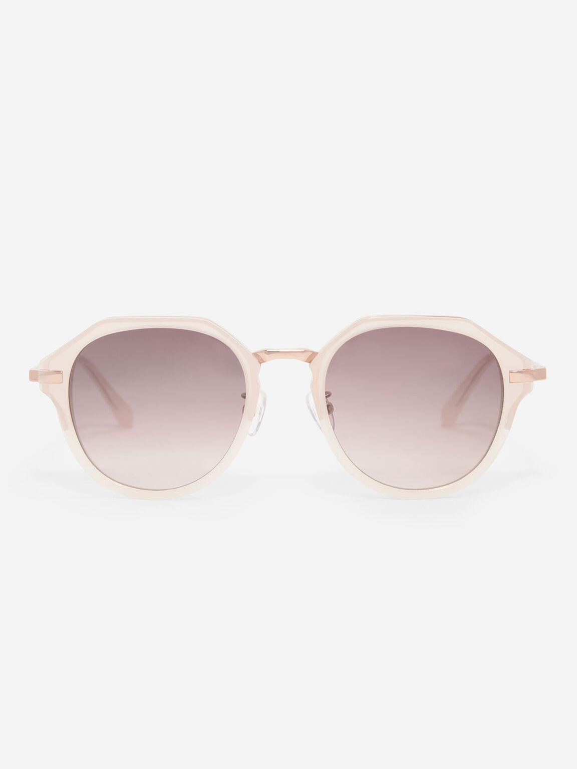 Angular Oval Sunglasses, Pink, hi-res