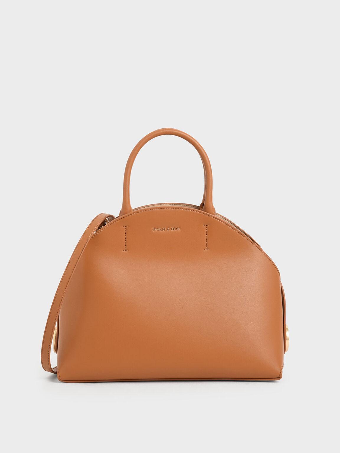 Large Dome Bag, Tan, hi-res