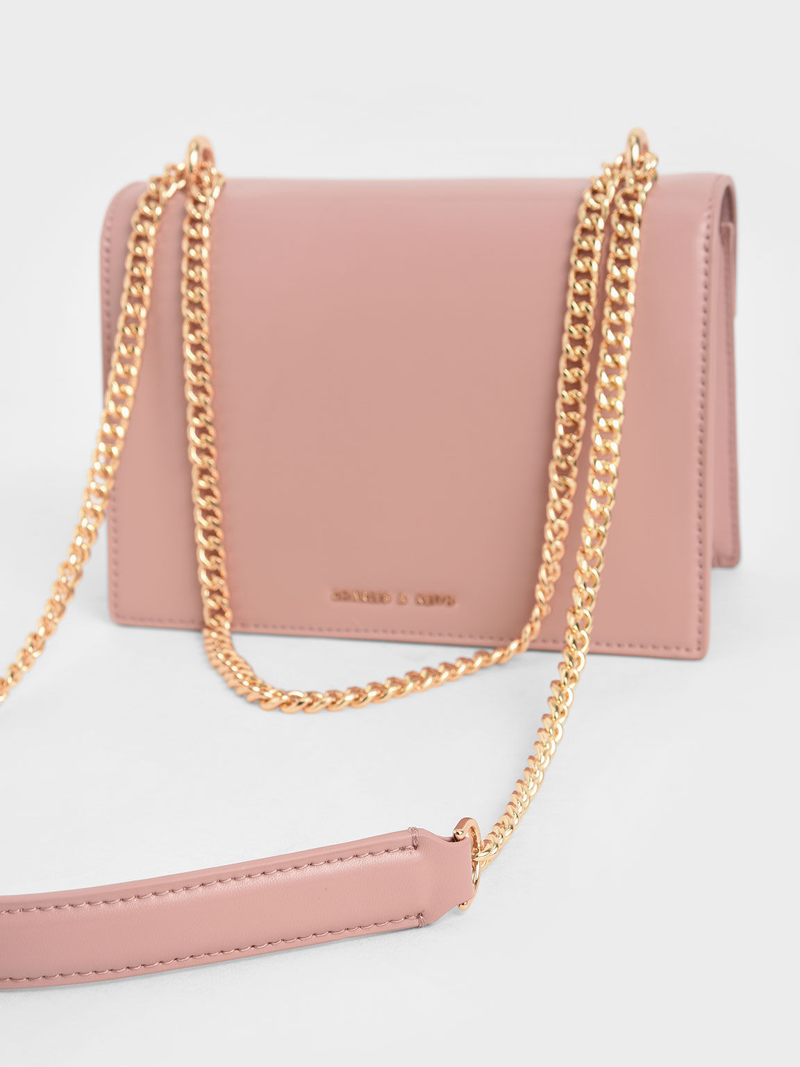 Stone-Embellished Shoulder Bag, Pink, hi-res