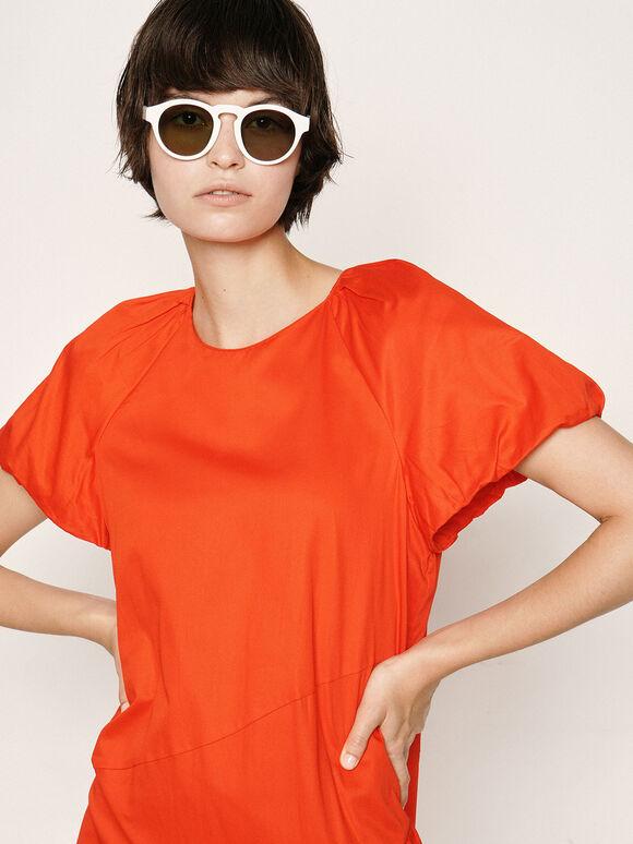 Round Acetate Sunglasses, White, hi-res