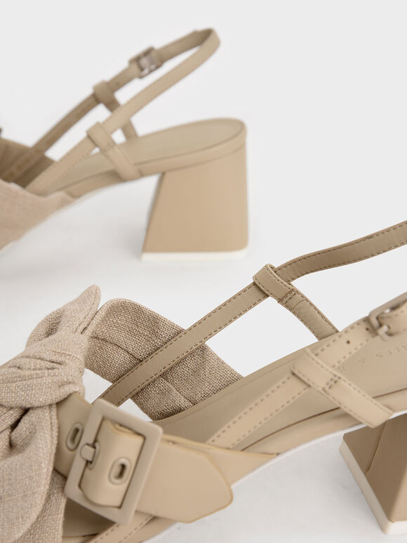The Purpose Collection - Linen Knot Slingbacks, Taupe, hi-res