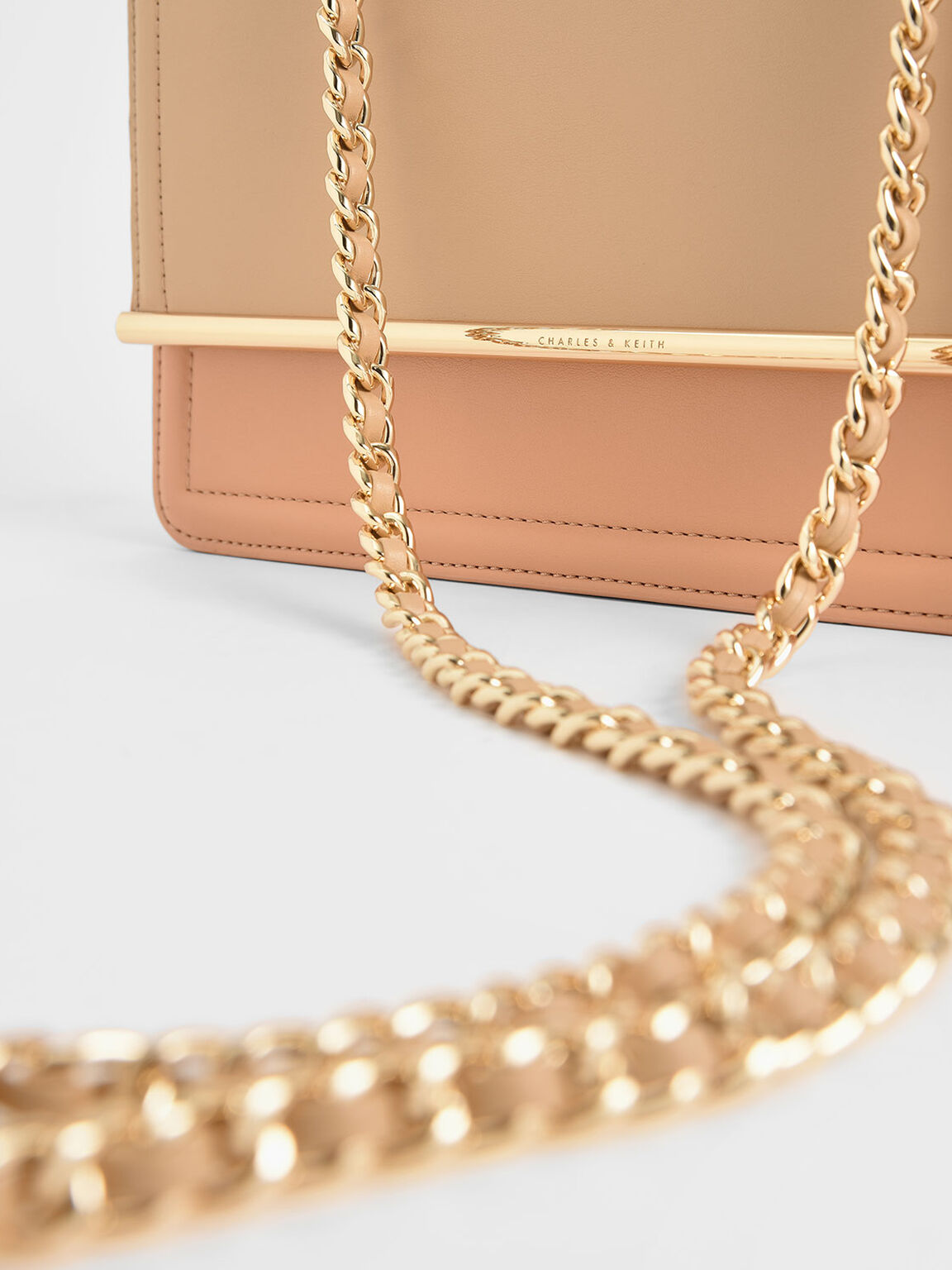 Two-Tone Clutch, Beige, hi-res