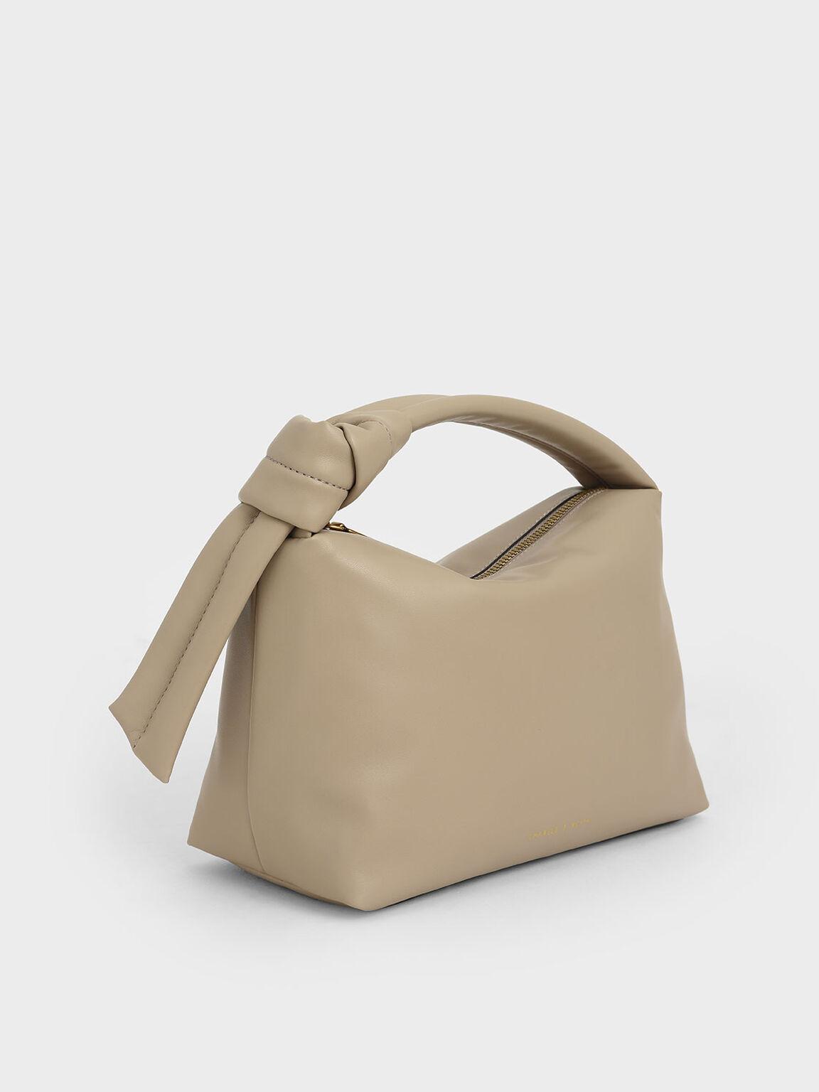 Slouchy Hobo Bag, Beige, hi-res