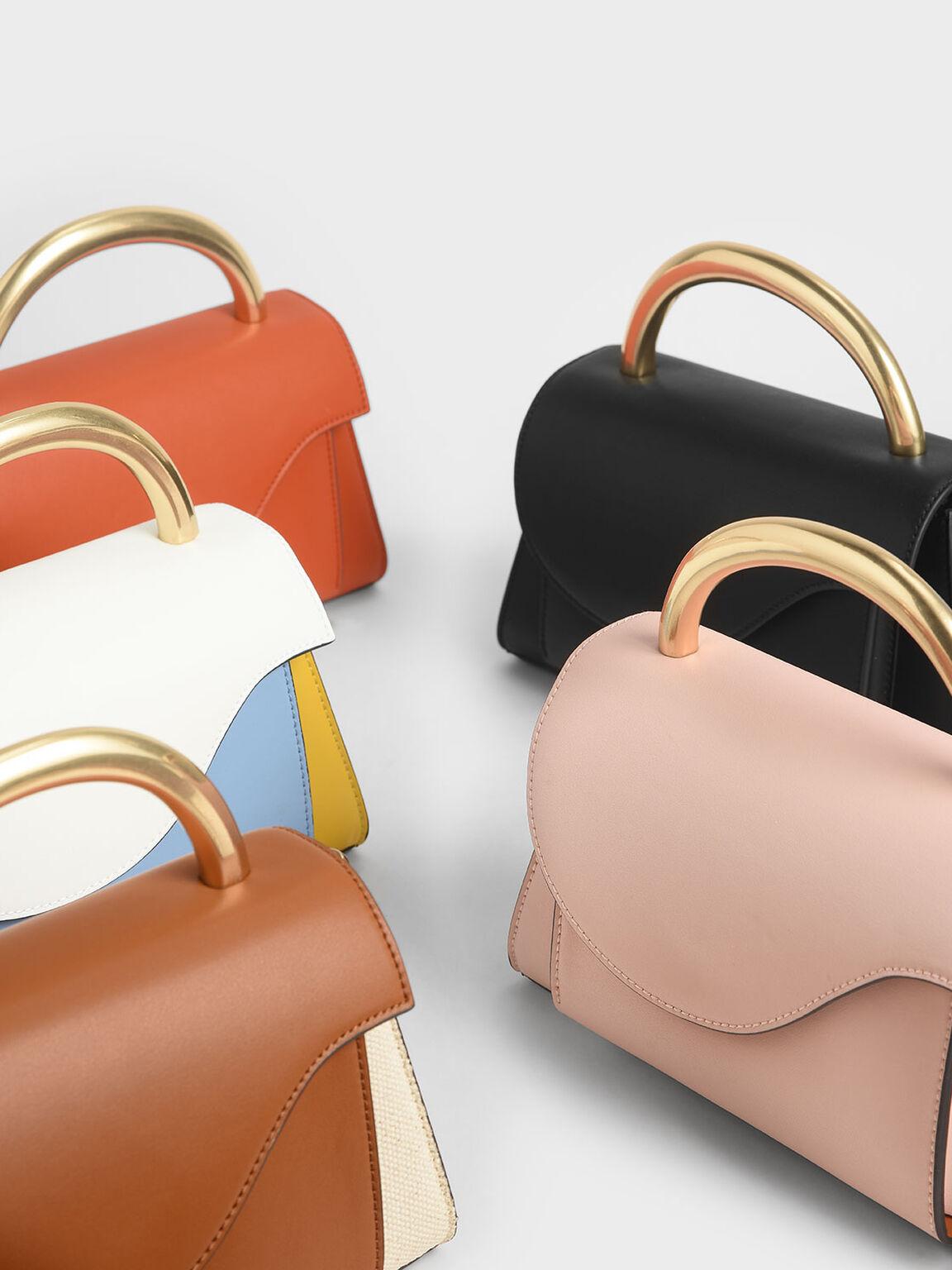 中型金屬手提包, 粉紅色, hi-res