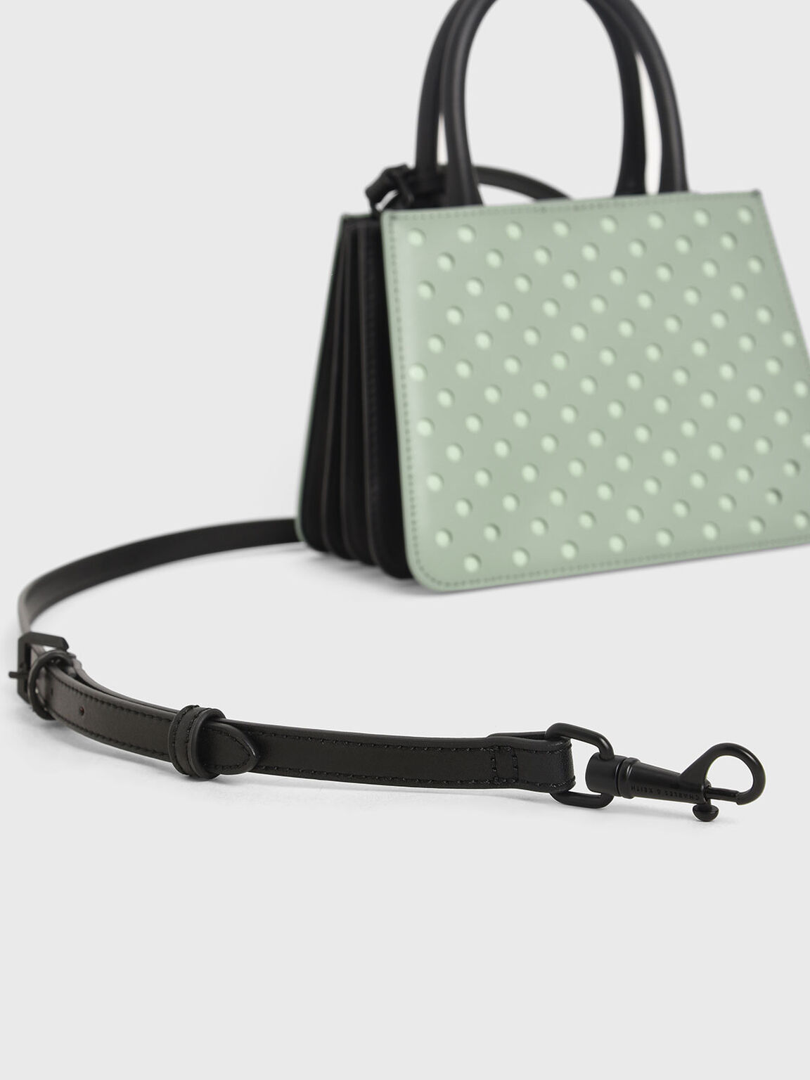 Laser-Cut Handbag, Sage Green, hi-res