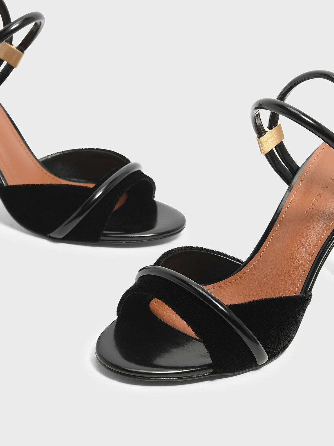 Two Way Heeled Sandals, Black, hi-res