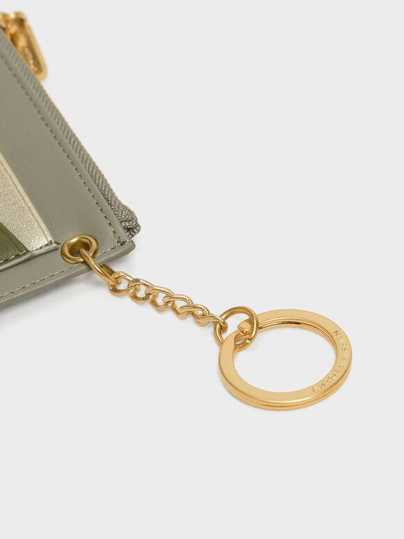 Chain Link Card Holder, Sage Green, hi-res
