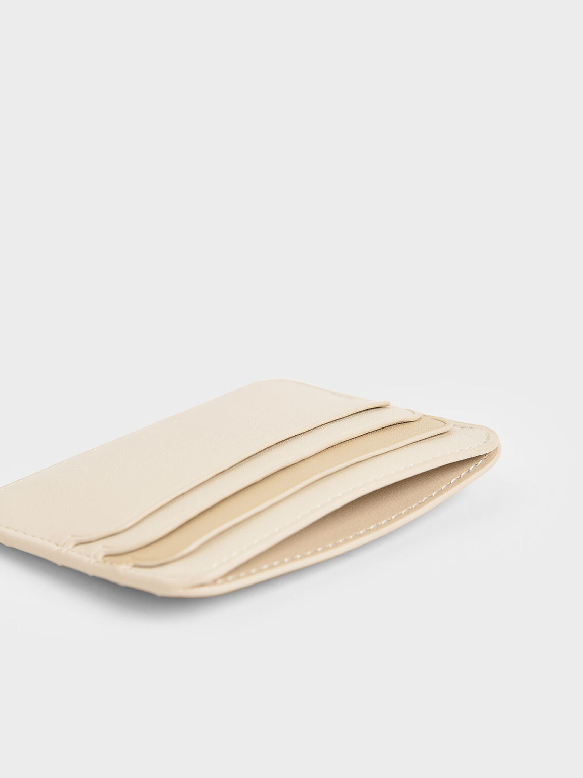 Two-Tone Multi-Slot Card Holder, Ivory, hi-res