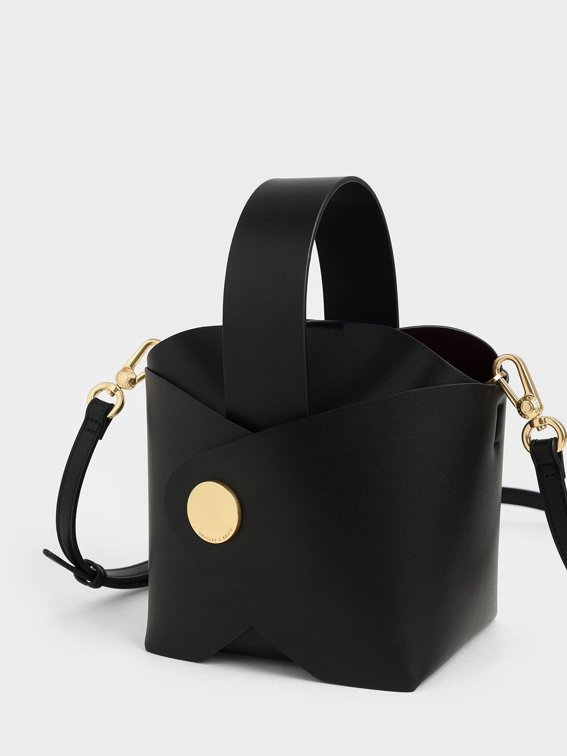 Mini Bucket Bag, Black, hi-res
