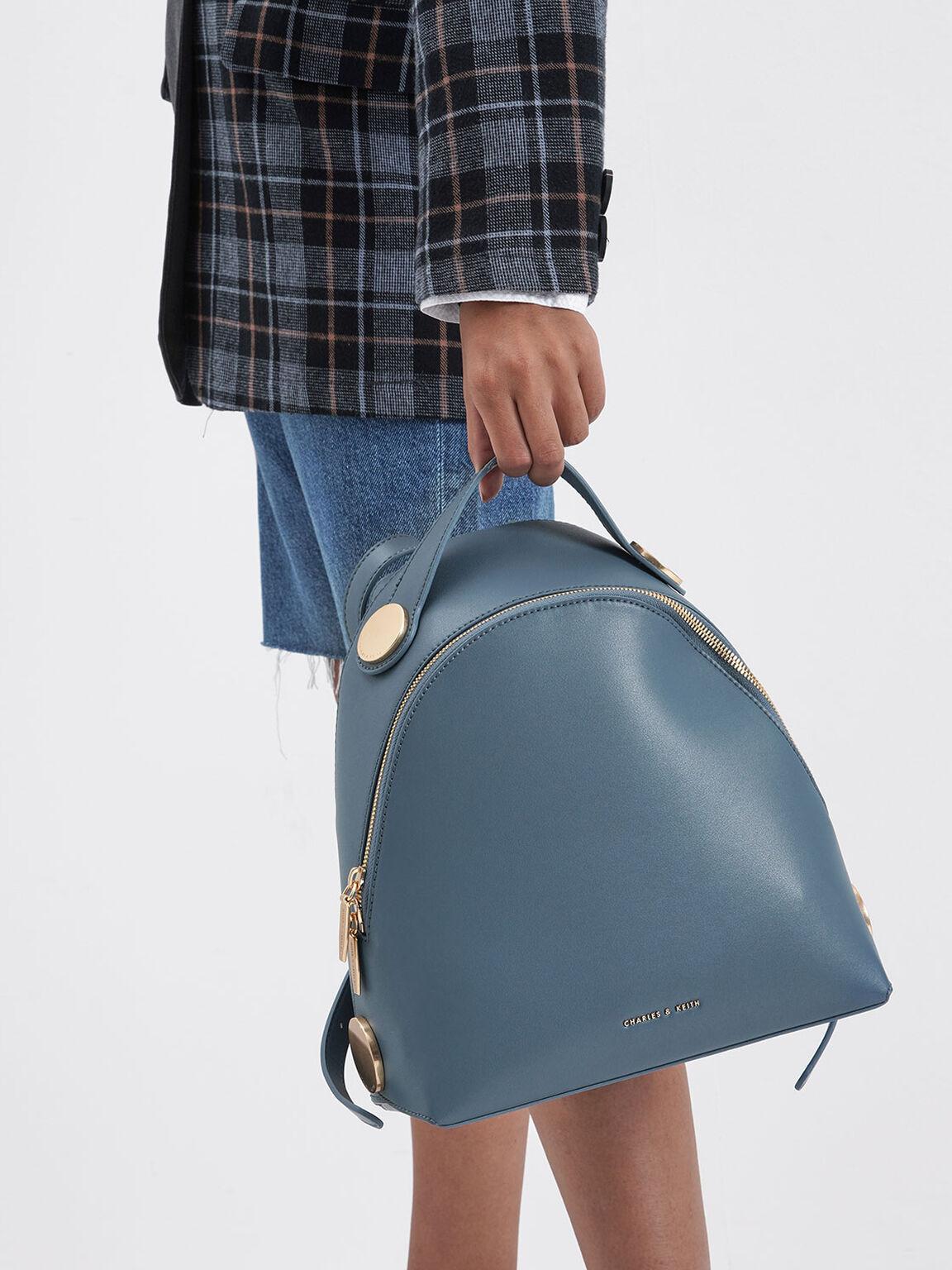 Large Dome Backpack, Blue, hi-res