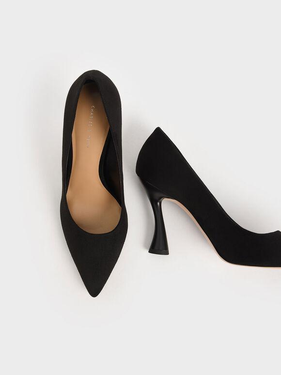 尖頭雕塑高跟鞋, 黑色, hi-res