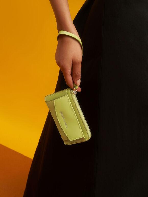 Wristlet Card Holder, Lime, hi-res