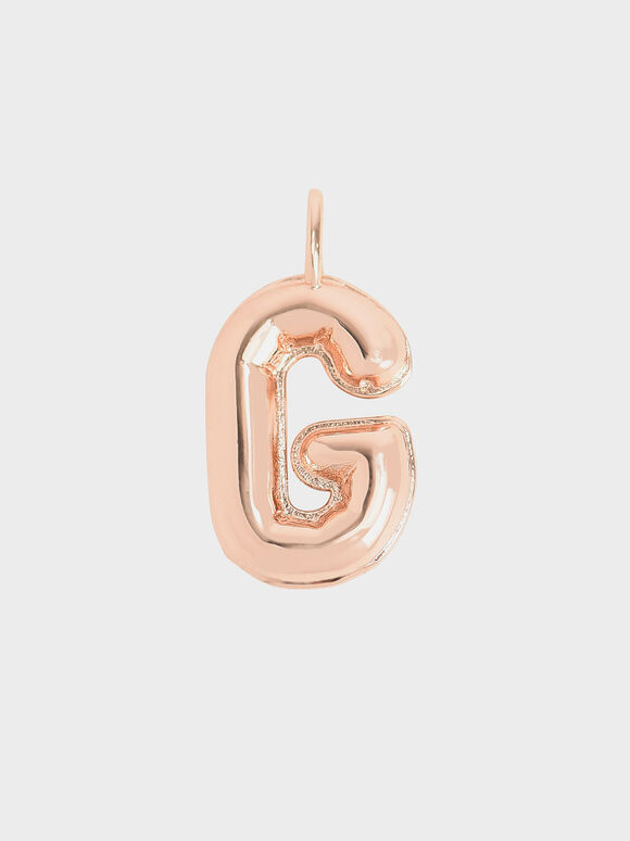 Alphabet 'G' Charm, Rose Gold, hi-res