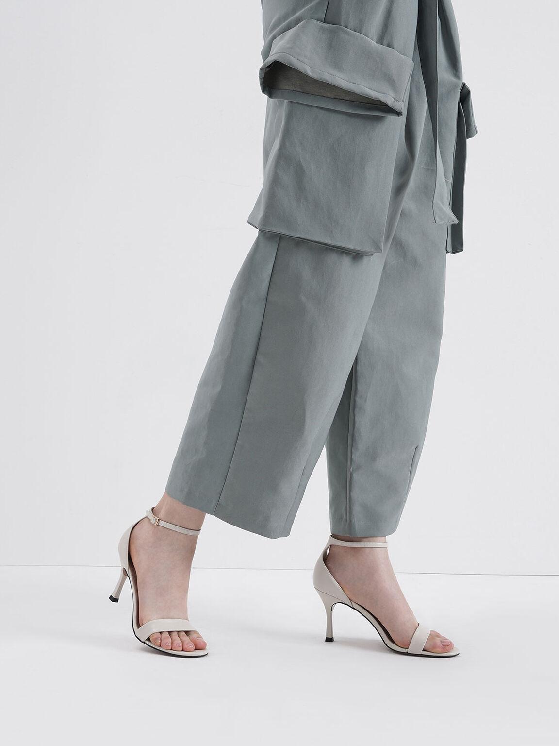 Ankle Strap Heels, Chalk, hi-res