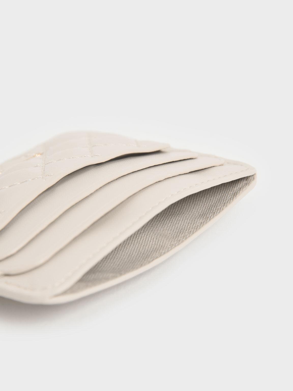 Quilted Card Holder, Ivory, hi-res