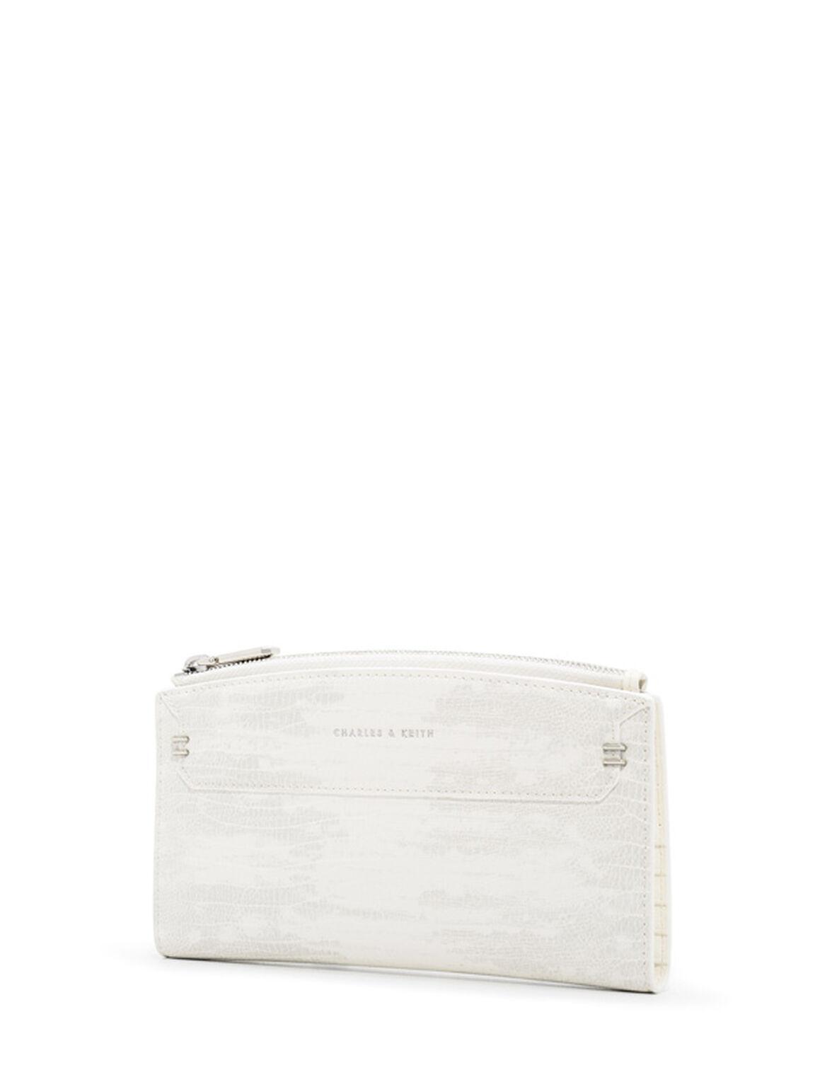 Stitched Outline Long Wallet, Multi, hi-res