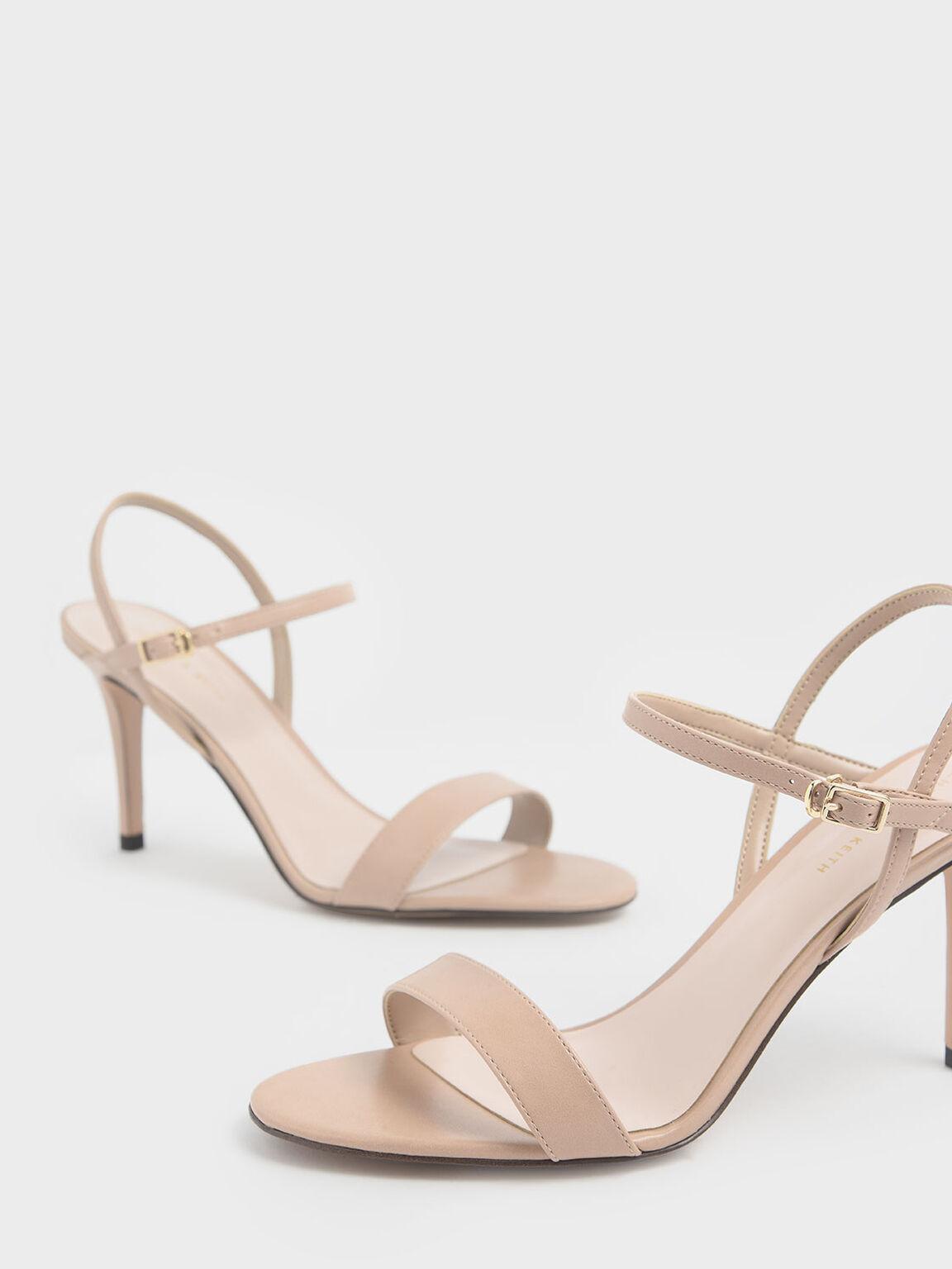 Classic Stiletto Heel Sandals, Nude, hi-res