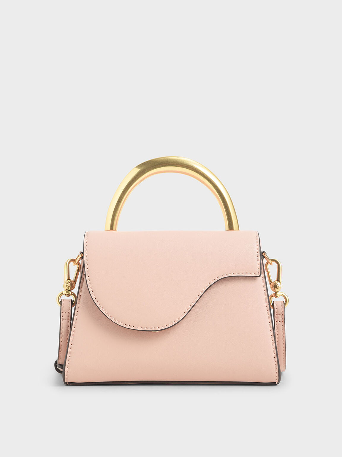 Angular Flap Bag, Pink, hi-res
