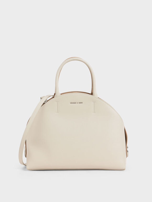Large Dome Bag, Cream, hi-res