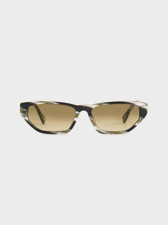 Acetate Cat-Eye Sunglasses, Multi, hi-res