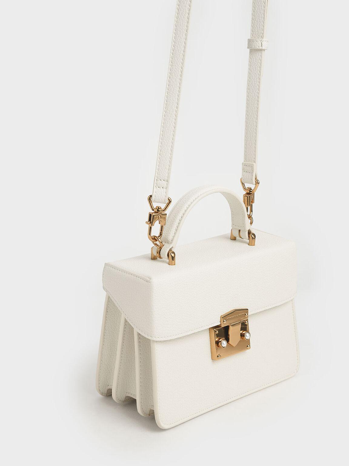 Classic Push-Lock Top Handle Bag, Chalk, hi-res