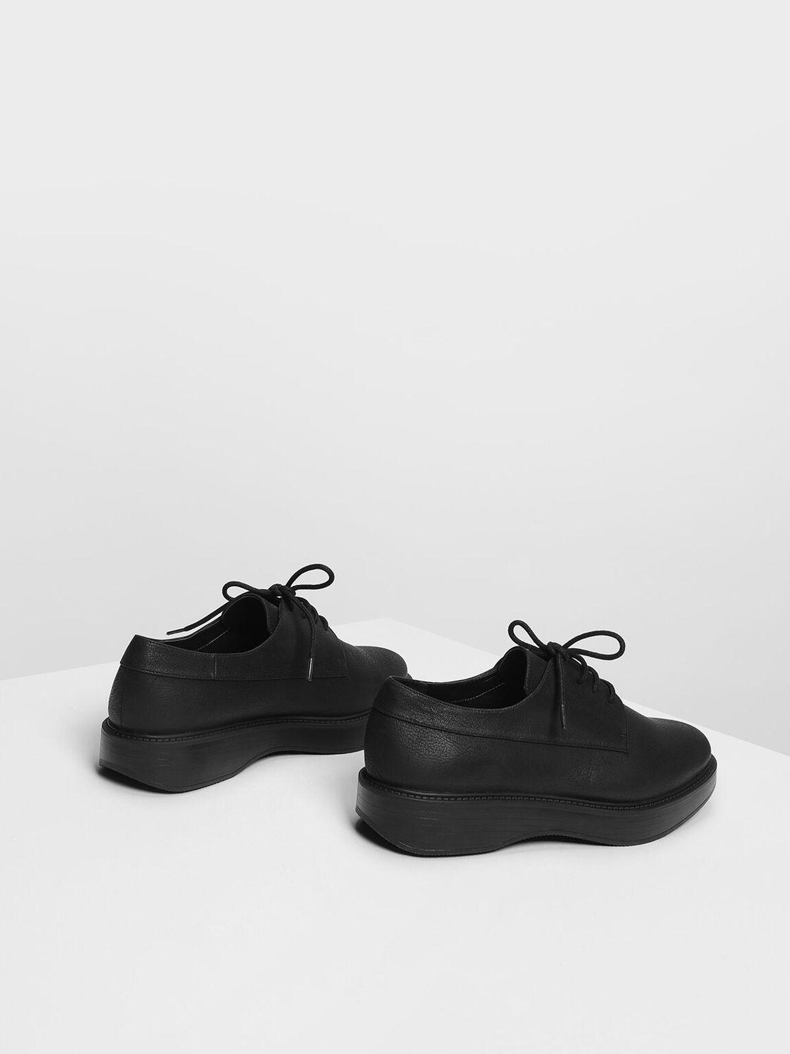 Classic Derby Shoes, Black, hi-res