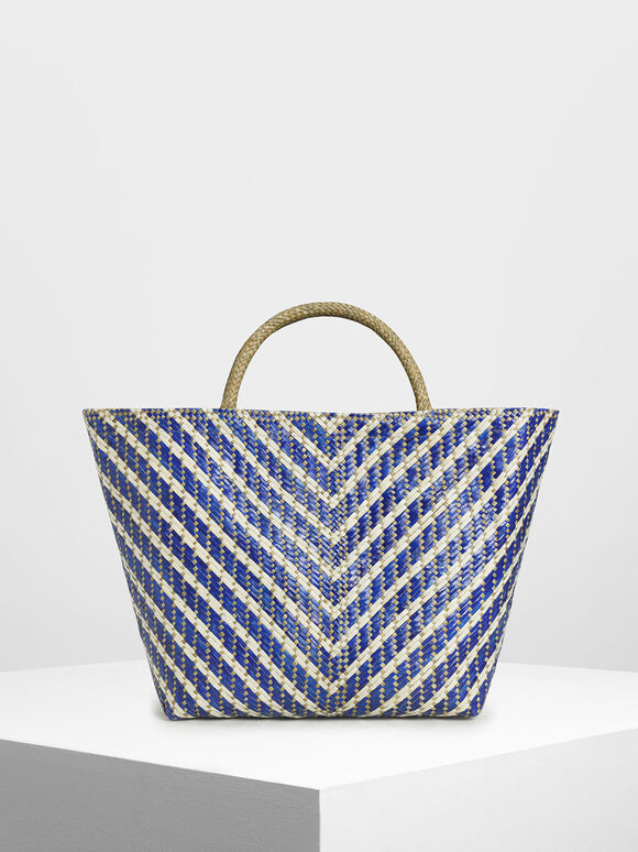 Handwoven Two-Tone Banig Tote Bag, , hi-res