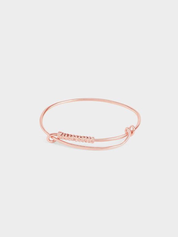 Twist Bangle Bracelet, Rose Gold, hi-res