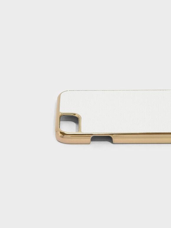 Textured iPhone Case, White, hi-res