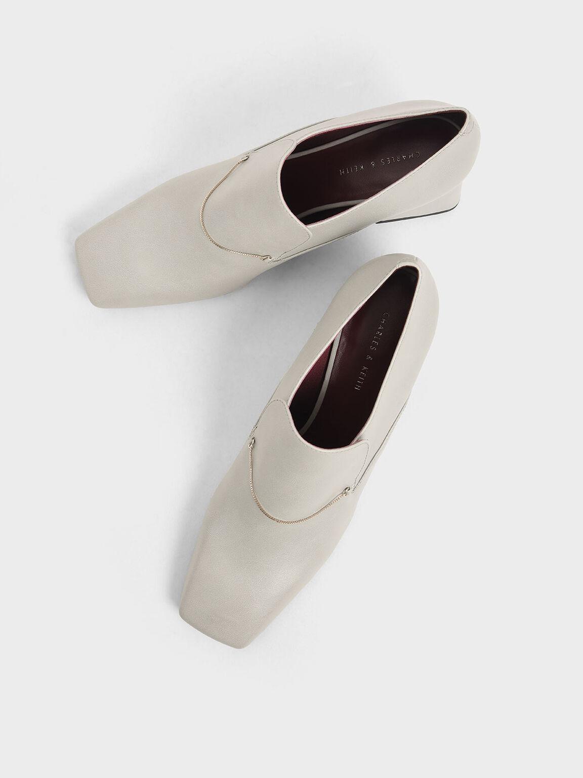 金屬圈樂福鞋, 石灰白, hi-res