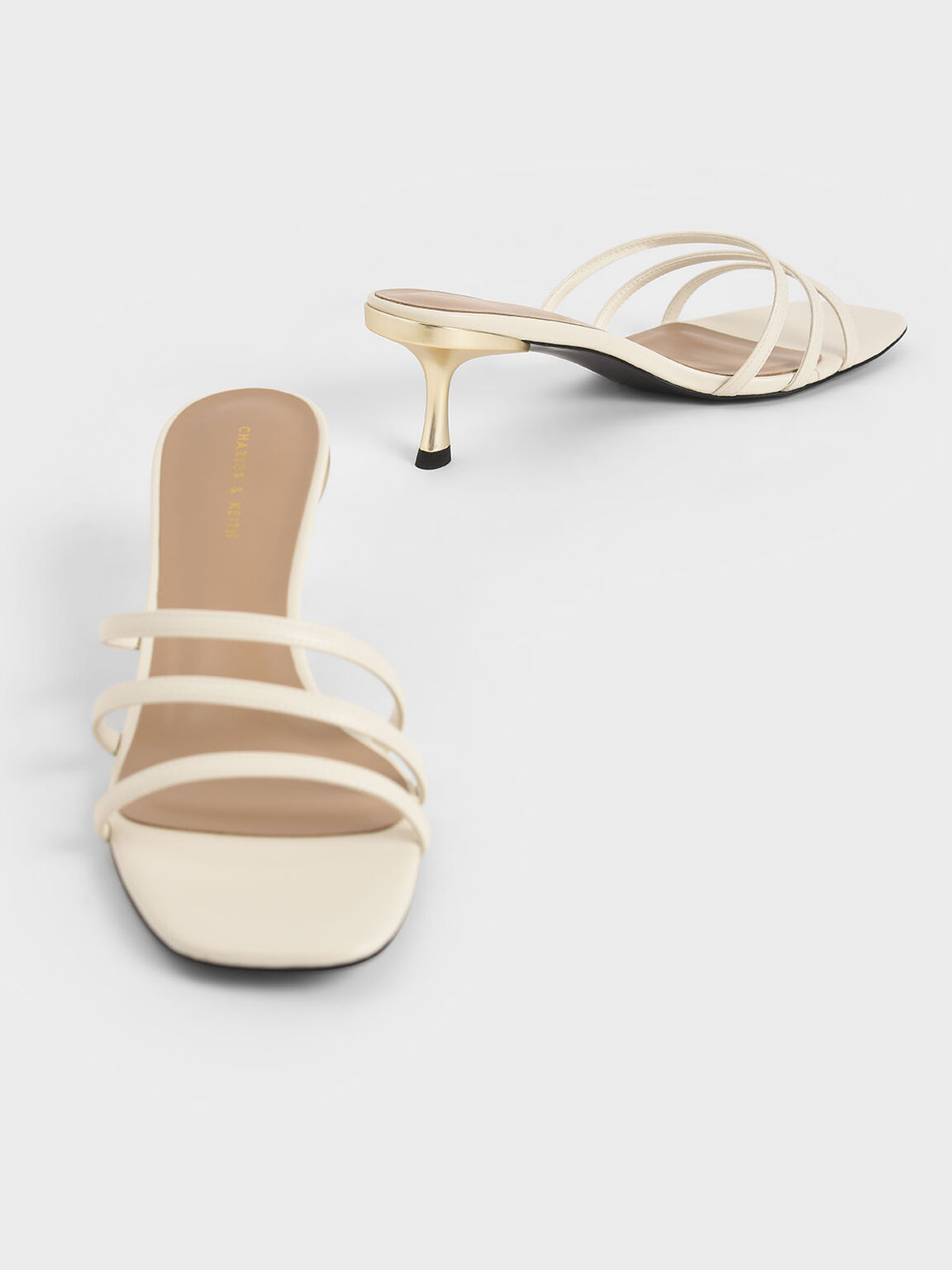 Strappy Mules, Chalk, hi-res