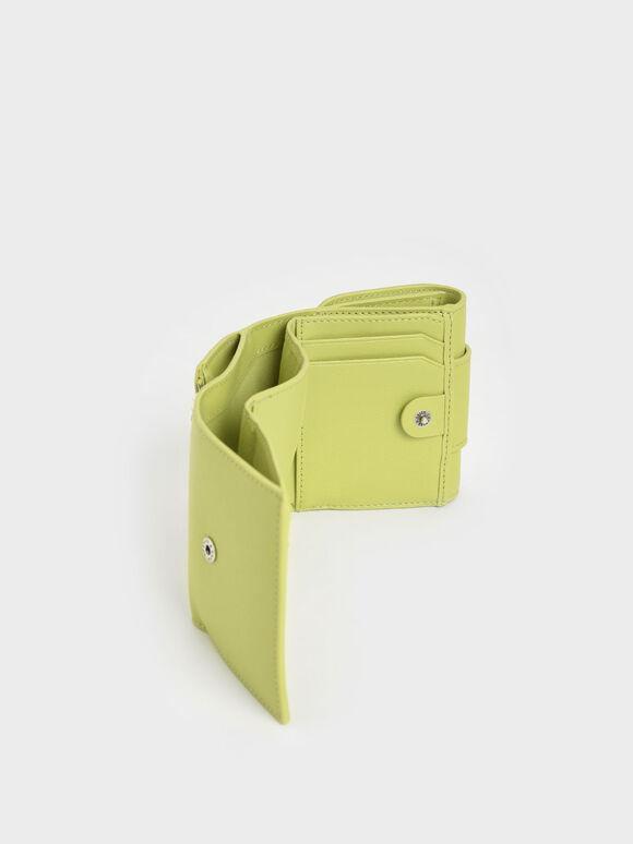 Chain Handle Short Wallet, Lime, hi-res