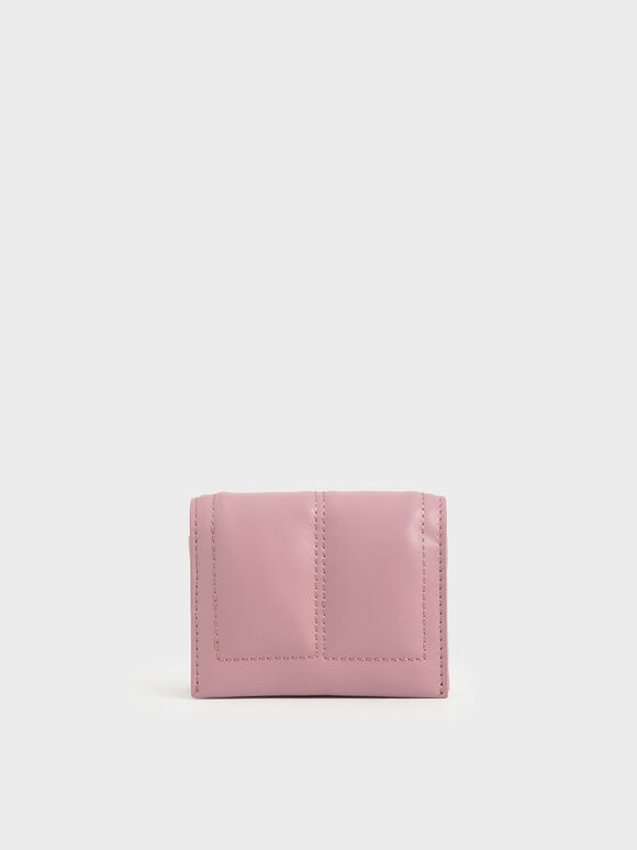 Quilted Card Holder, Pink, hi-res